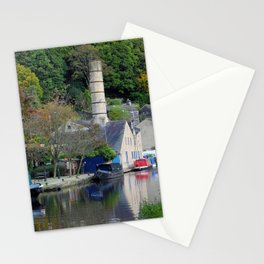 Boats on the canal - hebden bridge Stationery Cards