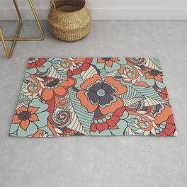 Colorful Vintage Floral Pattern Rug