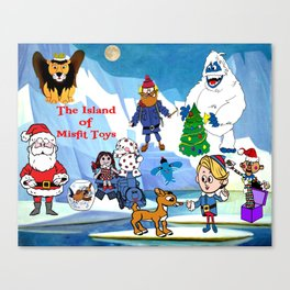 Island of Misfit Toys Canvas Print
