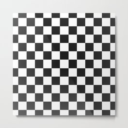 checkerboard pattern Metal Print