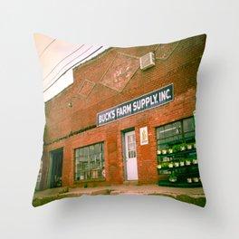 Farm Supply Throw Pillow