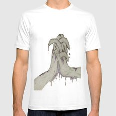 Crushed MEDIUM Mens Fitted Tee White