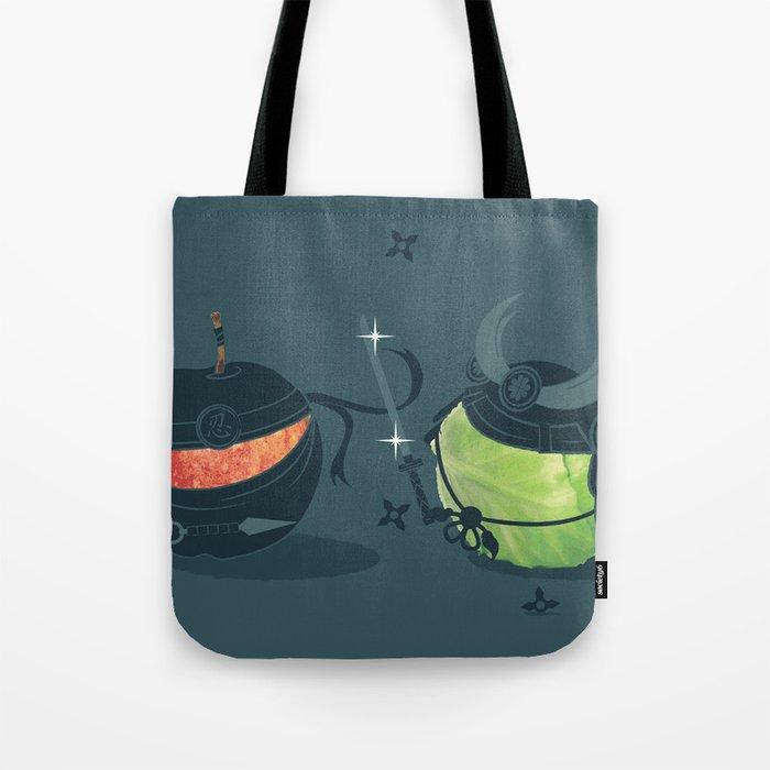 ninja vs samurai Tote Bag