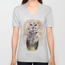 Gary The Great Gray Owl Unisex V-Neck