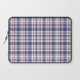 The checkered pattern . Scottish . Blue, red ,white . Laptop Sleeve