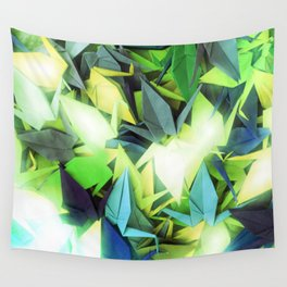 Senbazuru | yellows n blues  Wall Tapestry