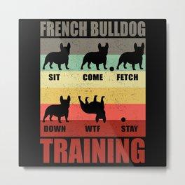 French Bulldog Bully Frenchie Dog Metal Print