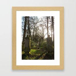 old gate Framed Art Print