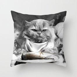 Diner Cat Throw Pillow
