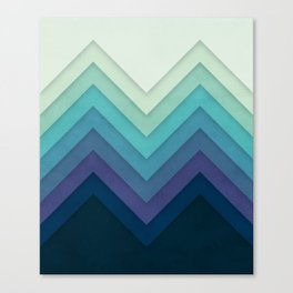 Retro Chevrons 001 Canvas Print