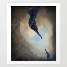 Let go and clouds will clear Art Print
