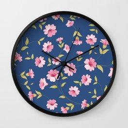 Flower samless pattern. Wall Clock