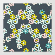 Flower tiles Canvas Print