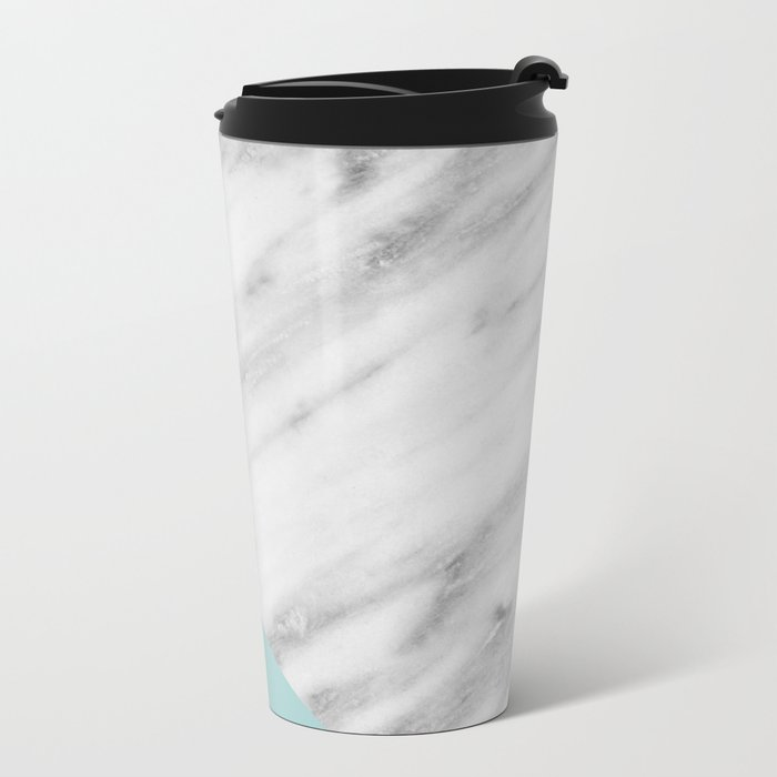 Ice Color Marble Collage Travel Mug