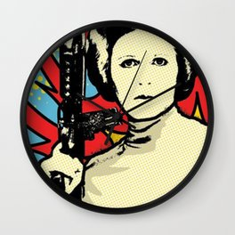 Princess Leia Pop Art Wall Clock