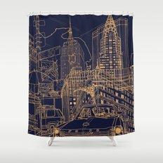 New York! Night Shower Curtain
