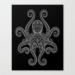 Intricate Dark Octopus Canvas Print