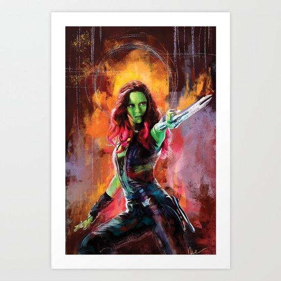 Gamora Art Print