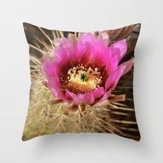 Cacti Flower Throw Pillow