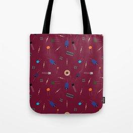 Circuit Elements - Maroon Tote Bag