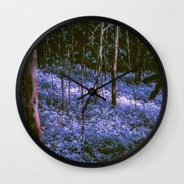 Purple Forest Dream Wall Clock