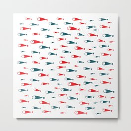 red and blue fishes Metal Print
