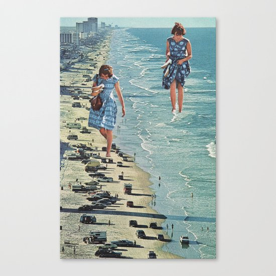 Walk on the Beach Canvas Print