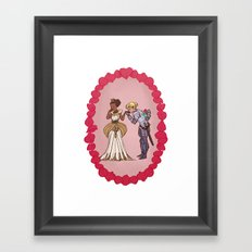 The Queen and Her Knight Framed Art Print
