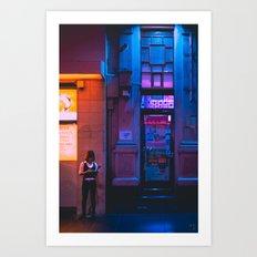Midnight Break, Chinatown, Melbourne Art Print