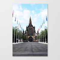 medieval Canvas Prints featuring medieval glasgow by seb mcnulty