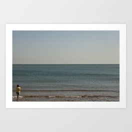 Distant boat Art Print