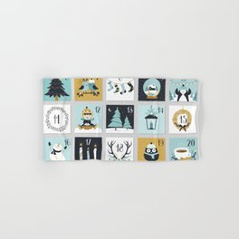 Christmas countdown with cute Christmas animals Hand & Bath Towel