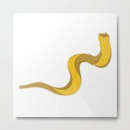 Jewish shofar yellow gold Metal Print