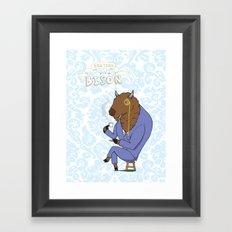 Tea Time with a Bison Framed Art Print