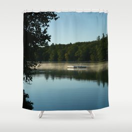 Childhood Memories of Mornings on the Lake Shower Curtain