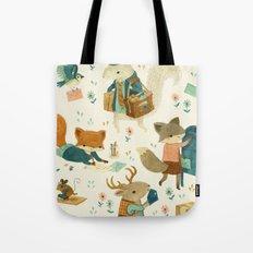 Critter Post Tote Bag