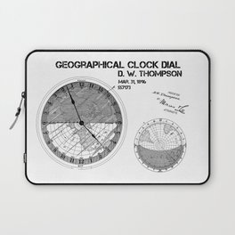 Geographical clock dial Thompson patent art Laptop Sleeve