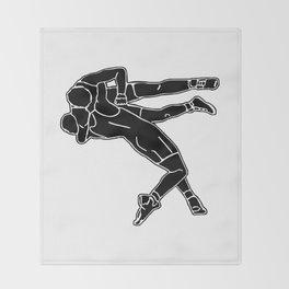 Greco-Roman wrestling Throw Blanket