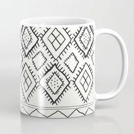 Beni Moroccan Print in Cream and Black Coffee Mug