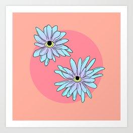 chrysanthEYEmum Art Print
