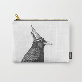 Willem Dacrowe Crow Wearing a Witch's Hat Carry-All Pouch