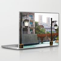 arab Laptop & iPad Skins featuring Dubai - Outside Burj Al Arab by gdesai