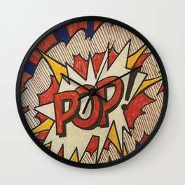 A roughly reworked Pop art Study from 1966 Wall Clock