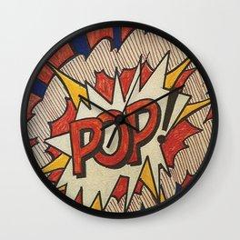 A reworked and vectorised  pop art of Roy Lichtenstein Roy Lichtenstein Pop Cover Study from 1966 Wall Clock