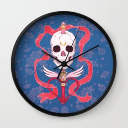Moon Skull Wall Clock
