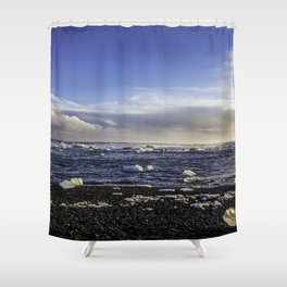 Jokulsarlon Lagoon Beach 08  Shower Curtain