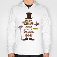 willy wonka Hoodies featuring Wonka Bar by le.duc