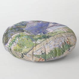 Houses in Auvers Floor Pillow
