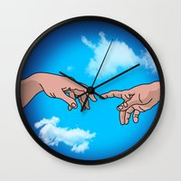 comics Wall Clocks featuring comics  by mark ashkenazi