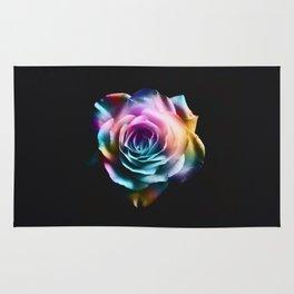 Tie Dye Colorful Rose Rug